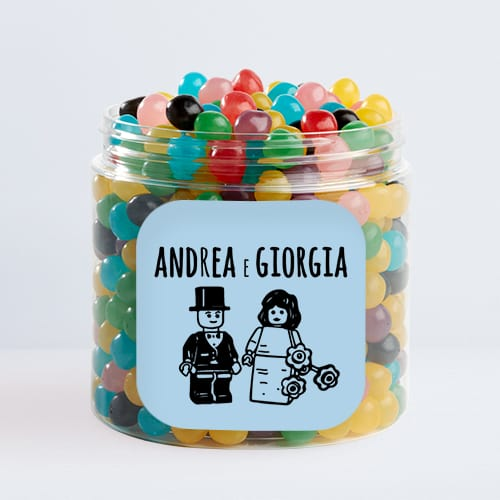 Barattoli di caramelle personalizzati